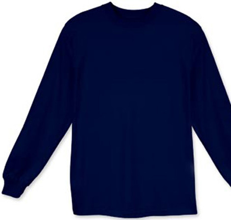 Long Sleeve Navy T-shirt for $15.00